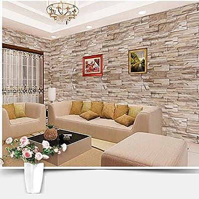 "PITI 23.8*195"" Self-adhesive Modern Minimalist PVC Wallpaper Adhesion Archaistic Brick Fireproof Waterproof Wall Decor sticker"