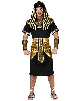 Pharao Kostüm mit Kopfbedeckung - Schwarz/Gold Historisches Karnevalskostüm M