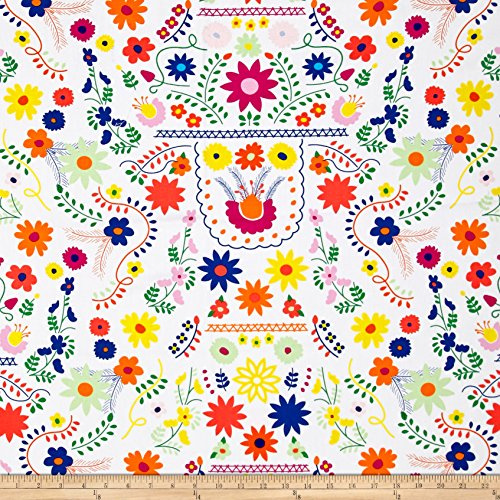 Art Gallery Fabrics Fiesta Fun Canvas Mexican Dress Fabric, Morning