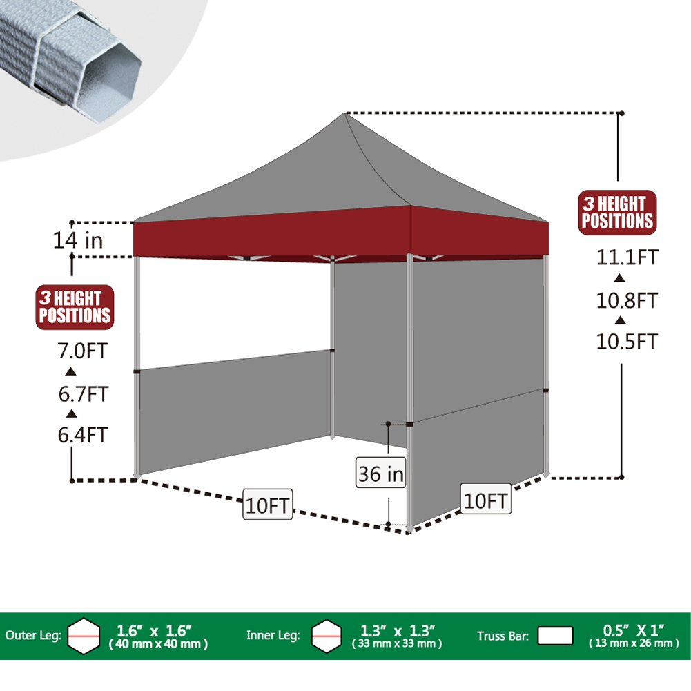 Amazon.com  Eurmax Premium 10x10 Instant Canopy Craft Display Tent Portable Booth Market Stall with Carry Bag Blue  Sports u0026 Outdoors  sc 1 st  Amazon.com & Amazon.com : Eurmax Premium 10x10 Instant Canopy Craft Display ...