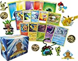 The Pokemon Collector's Box Lot - Rares Holos Foils Energy! 1 Pokemon Figure - Pin - Coin! Includes Golden Groundhog Box!