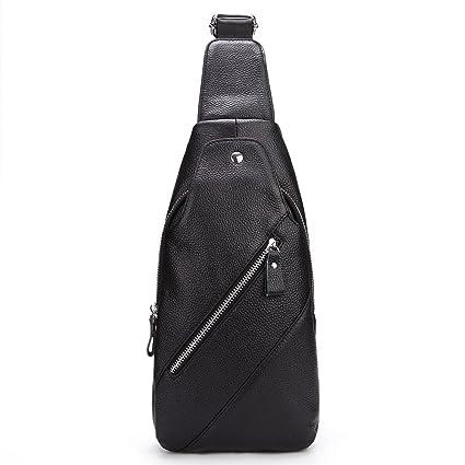 Zago Sling Bag Unisex Outdoor Crossbody Sling Pack Sport Daypack Bolso en el Pecho Mochila de Cuero: Amazon.es: Hogar
