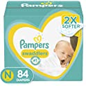 2-Pack Pampers Swaddlers Disposable Baby Diapers Newborn (Total 168-Ct)