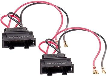 2/x cables adaptadores enchufe para altavoces altavoz para Seat Volkswagen ah-13