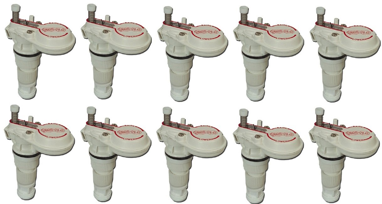 Freeland Ind. # FF Free Flo, Heavy Duty, Livestock Plastic Watering Valve -Quantity 10 by Freland