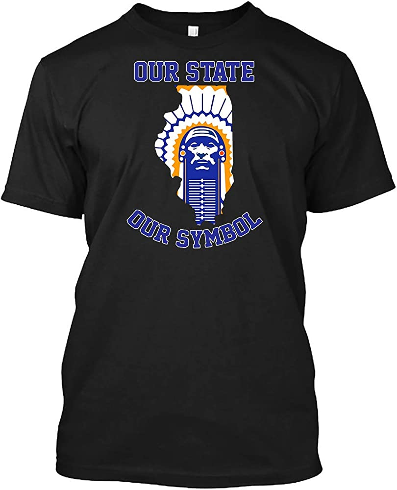 Chief Illiniwek Our State Our Symbol Copy Customized Handmade For Me Shirts