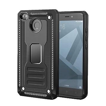 Funda Xiaomi Redmi 4X, EMONA Carcasa Shock-Absorción Funda para Xiaomi Redmi 4X Case (5 Pulgadas) - Negra