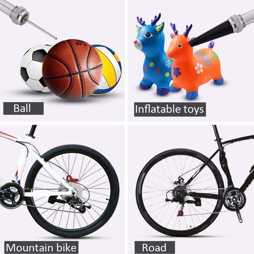 Tragbare Mini-Fahrradpumpe f/ür Presta und Schrader Ventile Mountain und BMX Fahrr/äder 130 PSI Fahrradreifenpumpe f/ür Stra/ßen Aluminiumlegierung