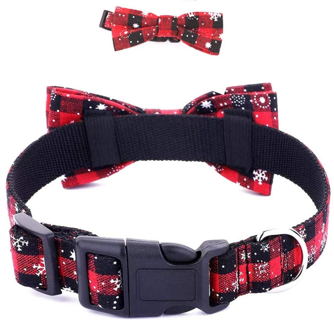 Dog Cat Collar | Dog Cat Bow Ties | Dog Collar | Cat Collar | Pet Gift | Christmas Pet Collar | Dog Bowtie Christmas | Red Colour |Collar Length 13.5"|1080|1080|?|b0e6e689a60dfe71ed0342f0cbf27dd6|True|False|UNLIKELY|0.30560779571533203