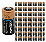 100x Duracell DL 123 Battery Photo Ultra Lithium CR123 3V Batteries Ex:2027 USA