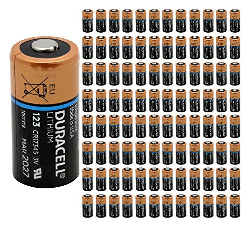 100x Duracell DL 123 Battery Photo Ultra Lithium CR123 3V Batteries Ex:2027 USA by 21Supply