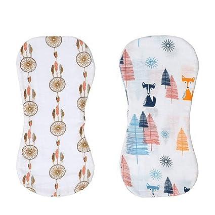 2 piezas masculinas y femeninas común neonatal eructar toalla diseño plegado salival saliva caqui cojín de