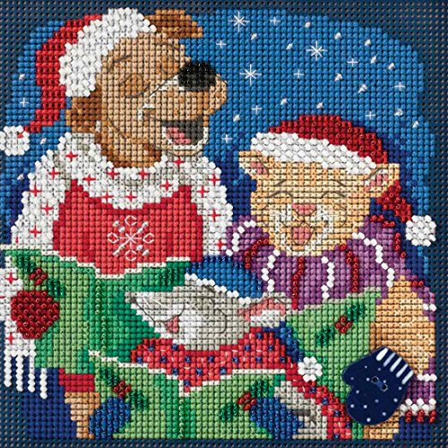 Caroling Trio Beaded Counted Cross Stitch Kit Mill Hill Buttons & Beads 2017 Winter Series MH141731