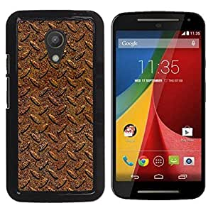 Paccase / SLIM PC / Aliminium Casa Carcasa Funda Case Cover para - Tire Pattern Car Metal Texture Design - Motorola MOTO G 2ND GEN II