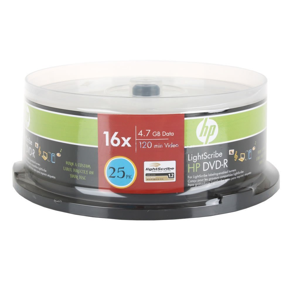 300PCS HP LIGHTSCRIBE DVD-R 16X 25CAKE BOX