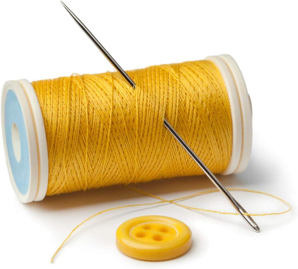 Agujas de coser 20 piezas Agujas de bordar de acero Agujas de ojo grande Agujas de zurcir de cuero//lona Juego de coser a mano Artesan/ía de cuero