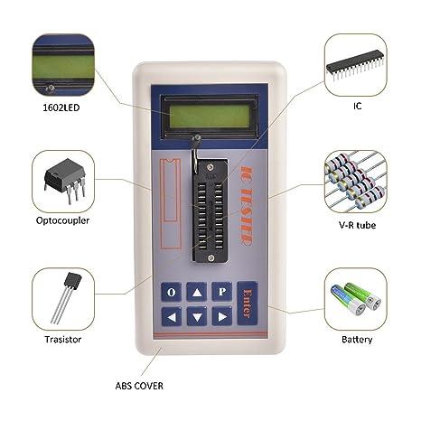 IC transistor probador con LCD Pantalla Digital medidor de circuito integrado mantenimiento automático Detecta Mos NPN y PnP: Amazon.es: Electrónica