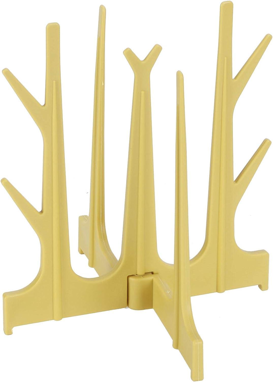 Estante para secar biberones, Estante para botellas plegable Estante para secar vasos en forma de árbol para encimera de cocina(Amarillo)