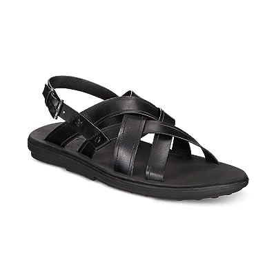 Bar III Mens Julian Buckle Open Toe Fisherman Sandals, Black, Size | Sandals [3Bkhe0203300]
