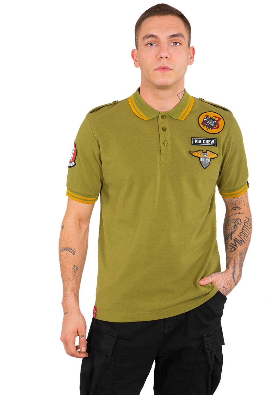 ALPHA INDUSTRIES Men Polo Shirt Air Crew: Amazon.es: Deportes y ...