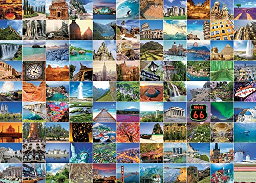 Ravensburger 99 Beautiful Places on Earth 1000 Piece Jigsaw Puzzle for Adults  Every Piece is Unique, Softclick Technology Means Pieces Fit Together Perfectly