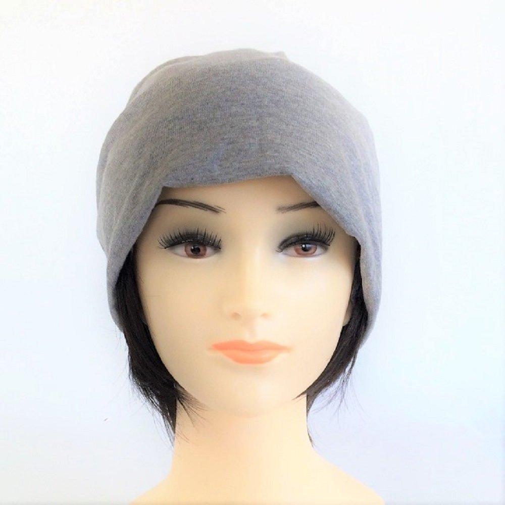 【抗がん剤治療】【毛付き帽子】 ショートWig付き 薄手ニット帽子(裏シルク)フリー Cheemo Hat B01J7UBLF6 杢グレー 杢グレー
