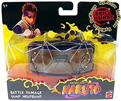 Amazon.com: Naruto Battle Damage Sand Headband: Toys & Games