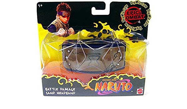 Amazon.com: Naruto Battle Damage Sand Headband: Toys & Games