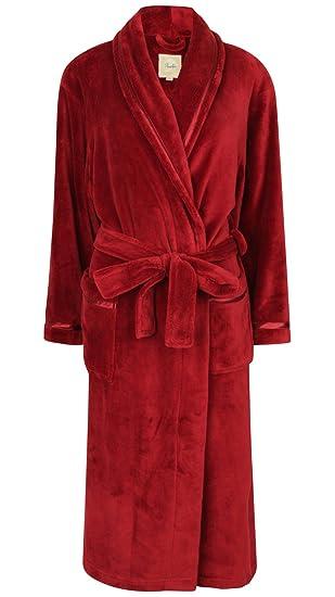 93e207e576c Robe de Chambre en Polaire Doux Ornée de Rubans  Amazon.fr ...