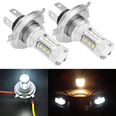 Led Headlight Bulbs Lamps Super White 80W For 2007-2015 Yamaha Grizzly 300 550 700 (2Pcs): Automotive