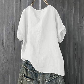 Moonuy Plus - Camiseta de Manga Corta para Mujer, diseño de ...