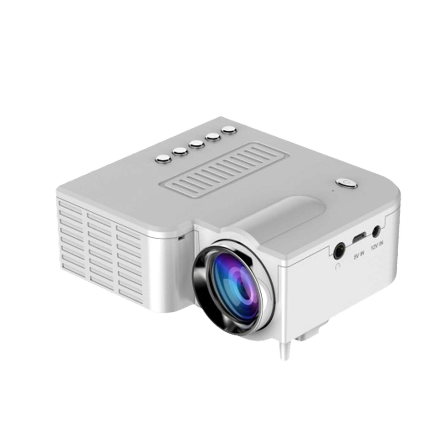 Peppydazi UC28B Portable HD 1080P Mini LED Projector with USB TV AV for Home Office Cinema Theater Entertainment Multimedia by Peppydazi