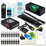 Dragonhawk Cartridge Tattoo Machine Kit Pen Rotary Tattoo Machine Black Tattoo Ink Needles Power Supply D1013-5 (V2)