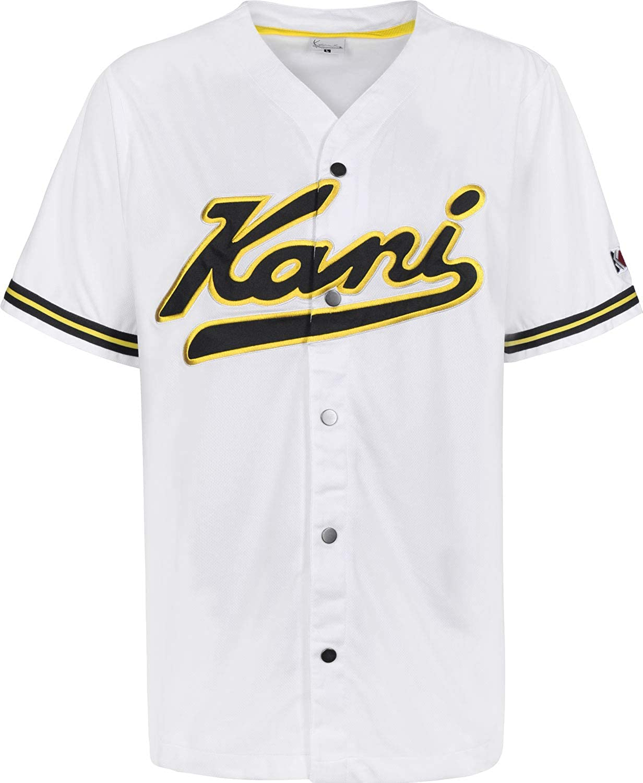 Karl Kani College Baseball Camisa Manga Corta Hombre Blanco M (Medium): Amazon.es: Ropa y accesorios