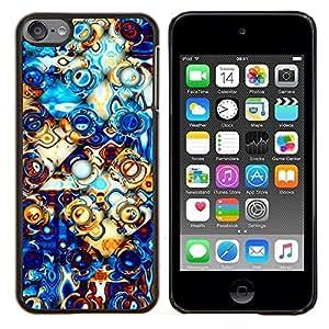- Electric Golden 3D Abstract Art/ Duro Snap en el tel??fono celular de la cubierta - Cao - For Apple iPod Touch 6 6th Generation