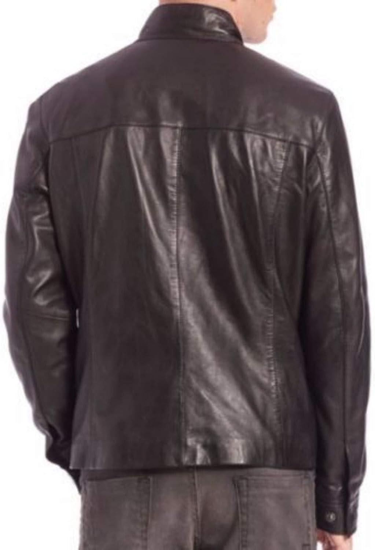 brandMe Mens Genuine Leather Pure Lambskin Biker Jacket MM428