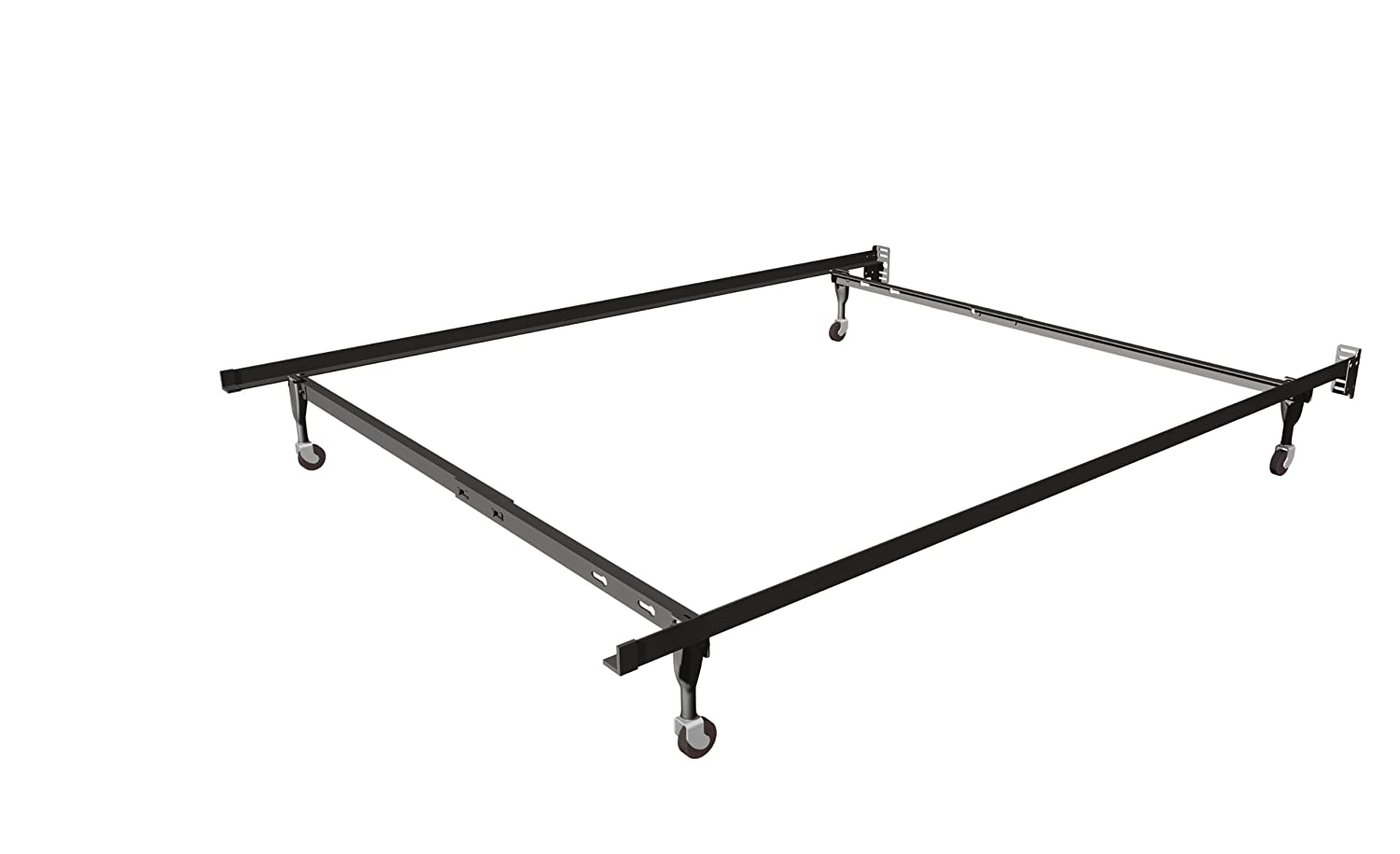 Amazon.com: Insta Lock Queen Bed Frame With Rug Rollers And Cross Support:  Kitchen U0026 Dining