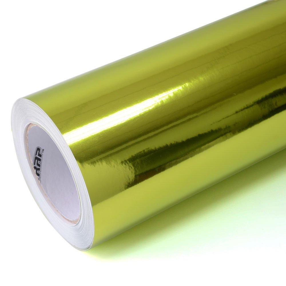 TECKWRAP 自動車(車カー) フィルム メッキ クローム ミラー 鏡面 レモングリーン(緑系) カーラッピング ビニール シート シールステッカー デカール エア抜き溝仕様 152cm×30cm B01M3PZIN3 レモングリーン(緑系) レモングリーン(緑系)