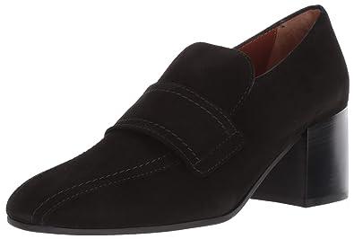 3aeeacb4021 Aquatalia Women s CARMELINE Dress Suede Loafer Black 5.5 ...