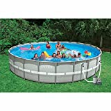 Intex 26 Feet x 52 Inches Above-Ground Ultra Frame Pool Set with GFCI | 54969WA