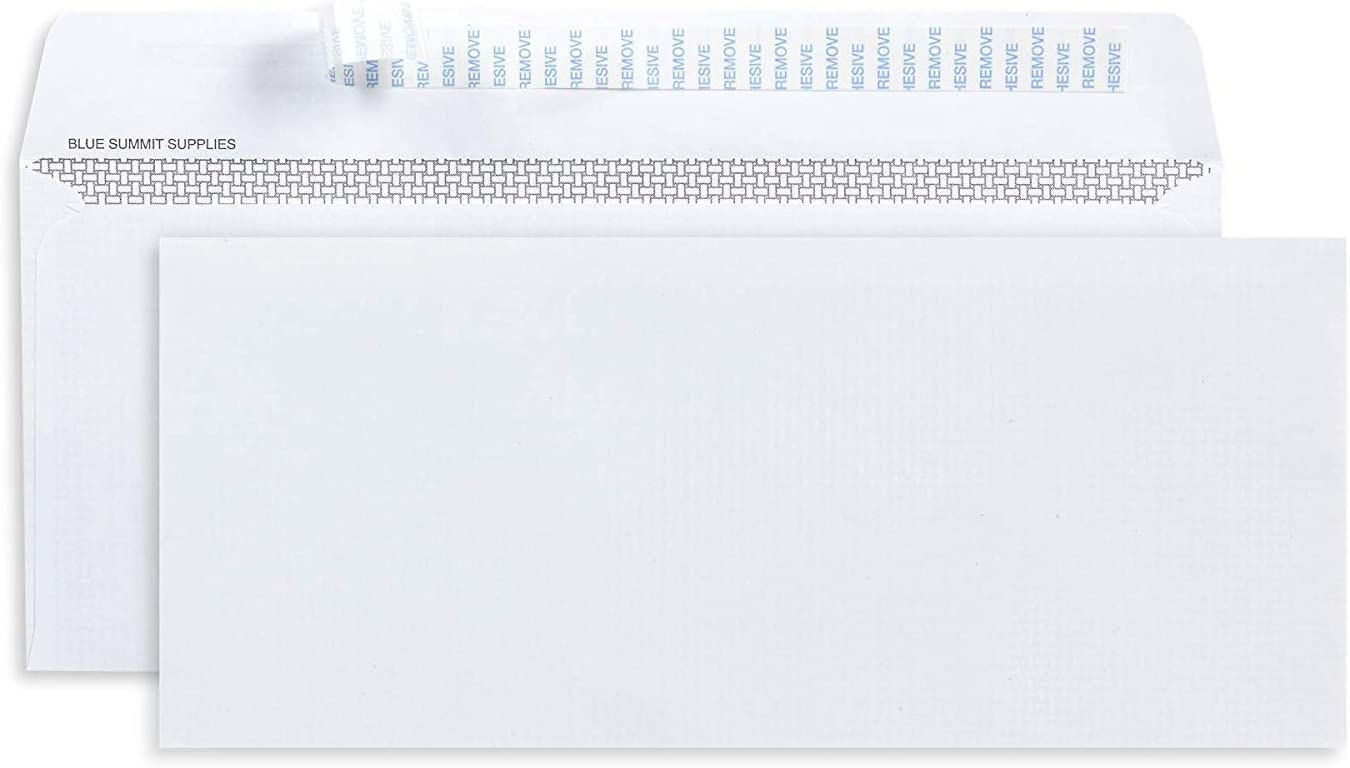 500 No. 10 Self Seal Security Envelopes - 10 Envelopes Self Seal Designed for Secure Mailing - Security Tinted with Printer Friendly Design - Number 10 Size 4 1/8 x 9 ½ Inch - Pack of 500