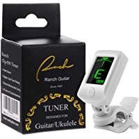 Ranch Clip-On Tuner Specialized for Ukulele and Guitar Beginner - White