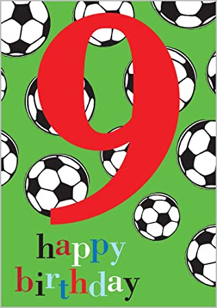 Geburtstagskarte Fur 9 Geburtstag Motiv Amazon De