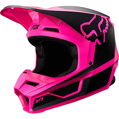 Fox Racing Youth V1 Przm Helmet (M) (Black/Pink): Fox Racing: Automotive [5Bkhe0815629]