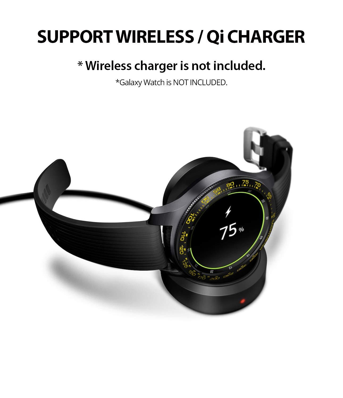 Ringke Bezel Styling for Galaxy Watch 42mm / Gear Sport Bezel Ring Adhesive Cover Anti Scratch Stainless Steel Protection [Stainless] for Galaxy Watch ...