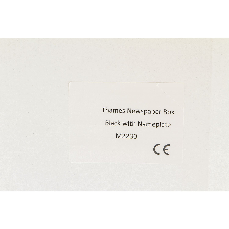 G2/Trading Company 077/Themse Stahl Zeitungsbox/ /Schwarz