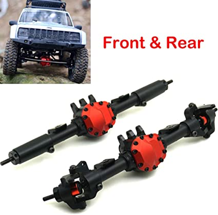 Steel Front /& Rear Axle Drive Shaft CVD Set For 1//10 RC AXIAL SCX10 II 90046