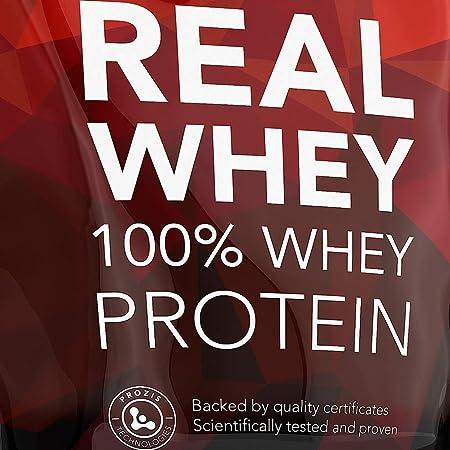 Prozis 100% Real Whey Protein, Suplemento Puro en Polvo con un Perfil Completo de Aminoácidos y Rico en BCAA, Plátano - 1000 g