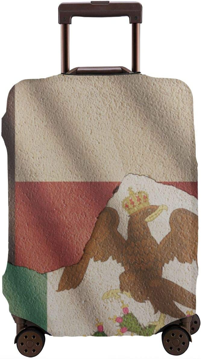 Luggage Covers Travel Luggage Cover Spandex Travel Luggage Cover Suitcase Protector Fits 18-32 Inch Luggage Case Independence Day XL Texas and Mexican Empire Flag