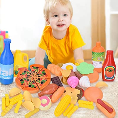 Xisheep Education Toys, Kids Pretend Role Play Kitchen Fruit Vegetable Food Educational Toy Set Gift, for Home & Pastime: Home & Kitchen